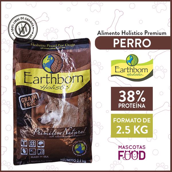 Alimento Perro Cachorro o Adulto Earthborn Primitive Natural 2,5 KG 1