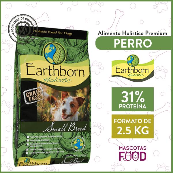 Alimento Perro Adulto Raza Pequeña Earthborn Small Breed 2,5 KG 1