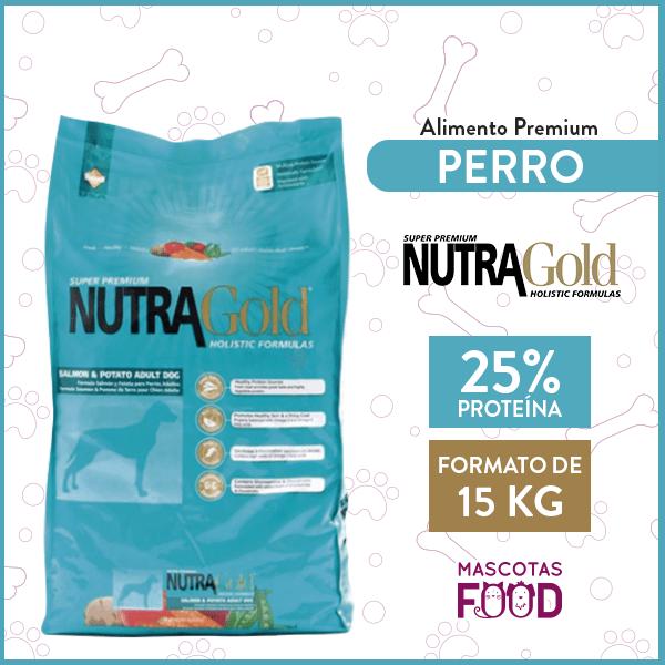 Alimento Hipoalergénico Perro Raza Mediana - Grande Nutra Gold Salmón/Papa 15 KG 1