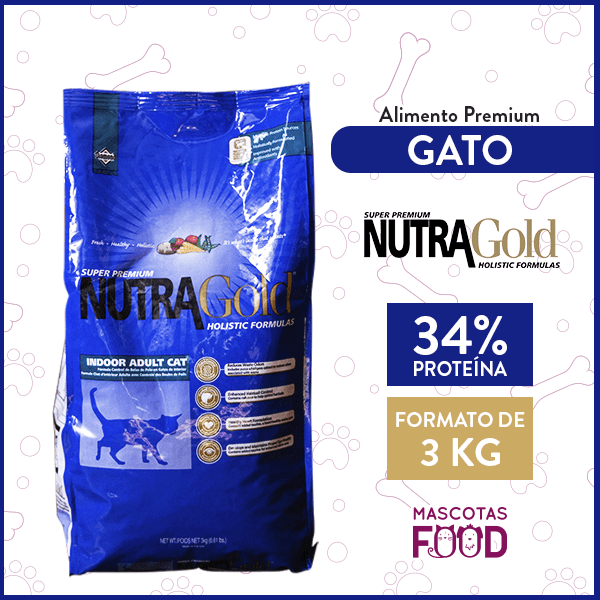 Alimento Gatos Activos de Interior Nutra Gold Indoor Cat 3 KG 1