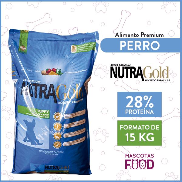 Alimento Perro Cachorro Raza Mediana Nutra Gold Puppy 15 KG 1