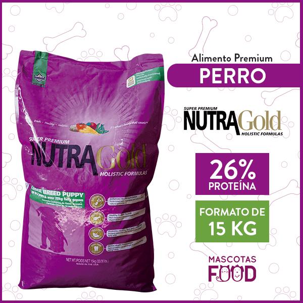 Alimento Perro Cachorro Raza Grande Nutra Gold Puppy 15 KG 1