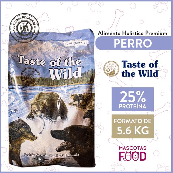 Alimento Perro Adulto Taste of the Wild Pacific Stream Canine Sabor Salmón 5,6 KG 1