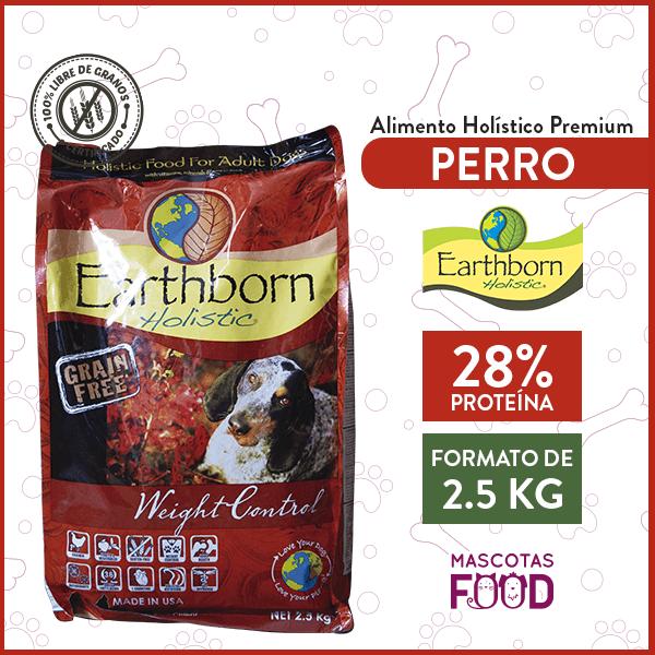 Alimento Perro Adulto Bajo en Grasas Earthborn Weight Control Sabor Pollo 2,5 KG 1