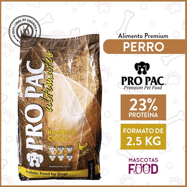 Alimento Perro Pro Pac Heartland Choice sabor pollo 2.5 KG 1