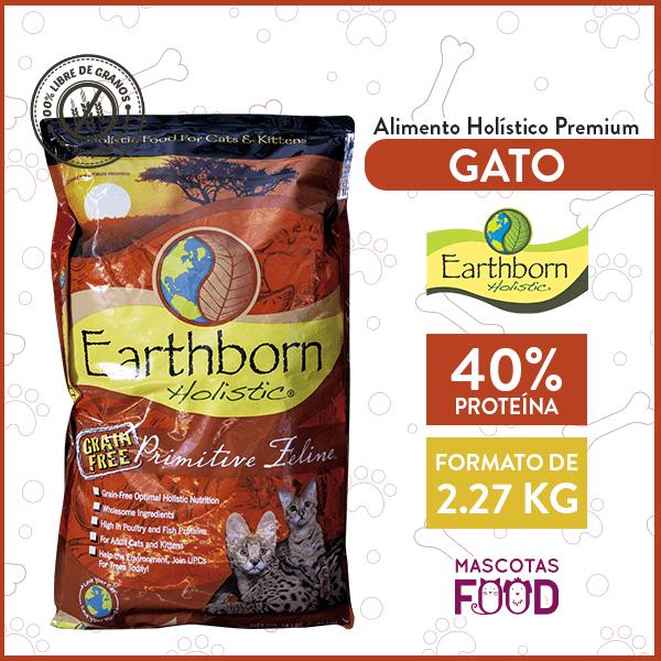 Alimento Gatos y Gatitos Earthborn Holistic Primitive Feline Sabor Pollo 2 KG 1