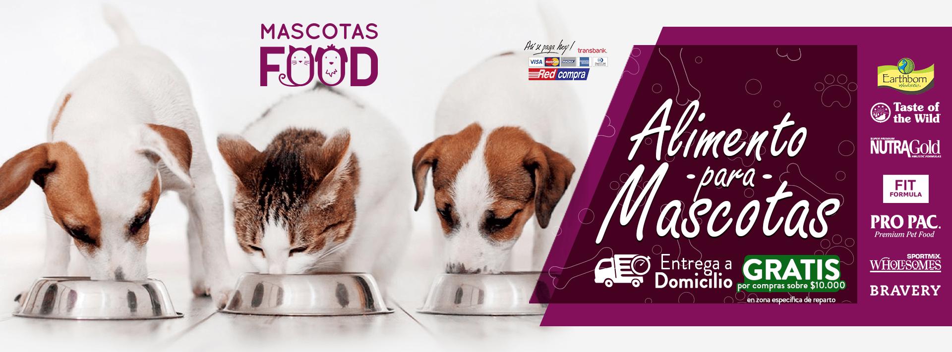 Mascotas Food Despacho gratis compras sobre $10.000