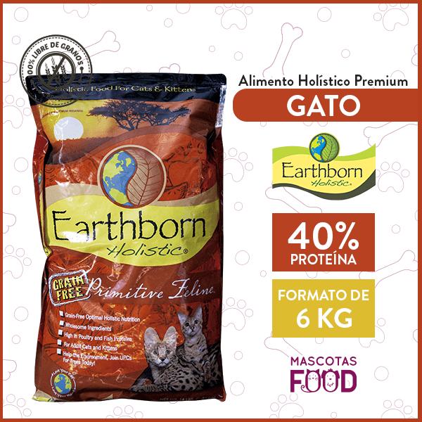 Alimento Gatos y Gatitos Earthborn Holistic Primitive Feline Sabor Pollo 6 KG 1