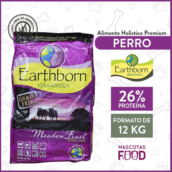 Alimento Perro Earthborn Meadow Feast sabor Cordero 12 KG 1