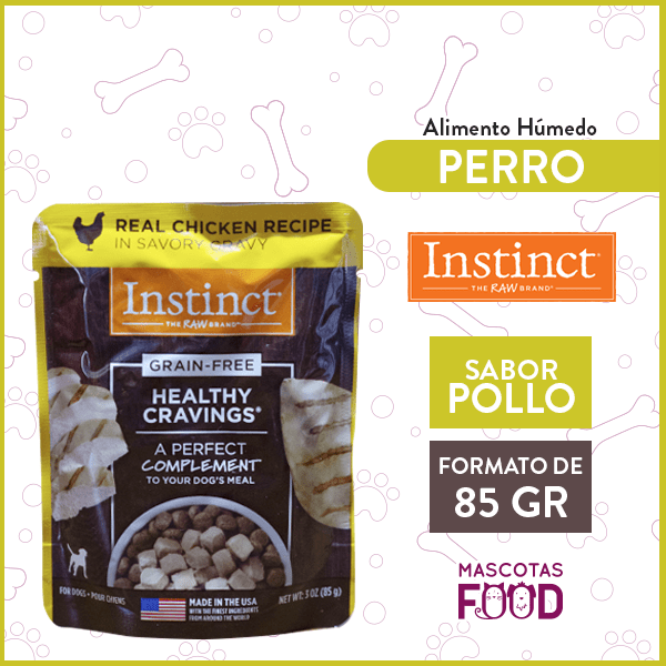 Alimento húmedo para Perro Instinct sabor Pollo 85grs. 1