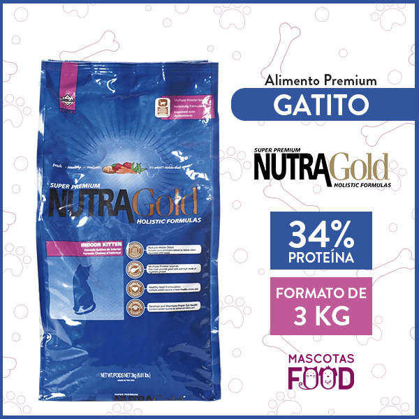 Alimento Gatitos Cachorros y Gatas Lactantes Nutra Gold Kitten 3 KG 1