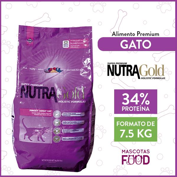 Alimento Gatos Exigentes Nutra Gold Finicky 7.5 KG 1