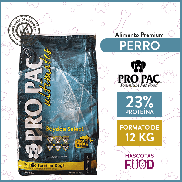 Alimento Perro Pro Pac Bayside Select Sabor Pescado 12 KG 1
