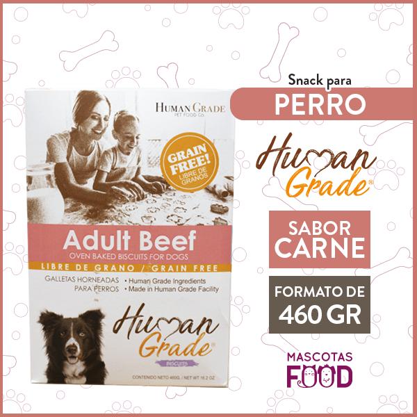 Galletas Horneadas Perro Adulto Grain Free Adult Beef Human Grade 460grs. 1