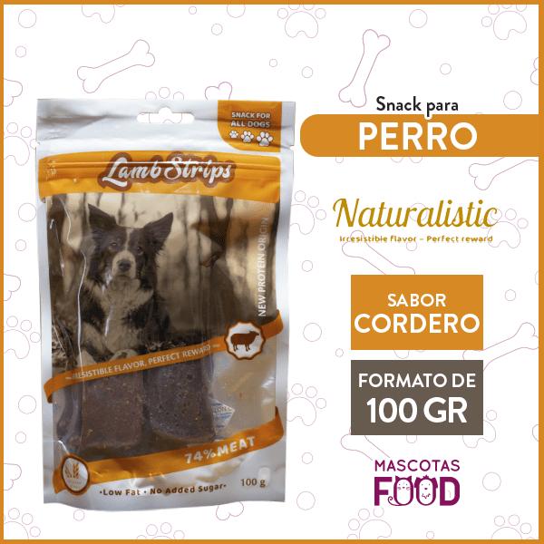 Snack para Perro Naturalistic sabor Cordero 100grs. 1