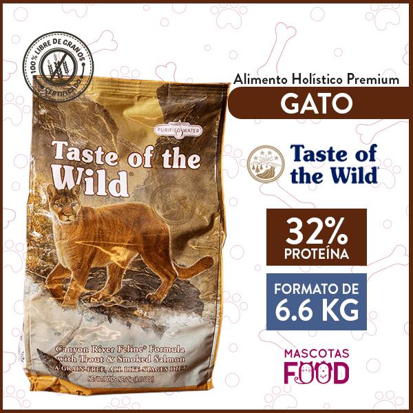 Alimento Gato Libre de Granos Taste of the Wild Canyon River Trucha y Salmón Ahumado 6.6 KG 1
