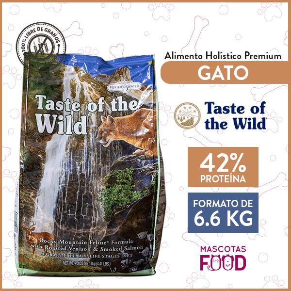 Alimento Gato Libre de Granos Taste of the Wild Rocky Mountain Venado y Salmón 6.6 KG 1