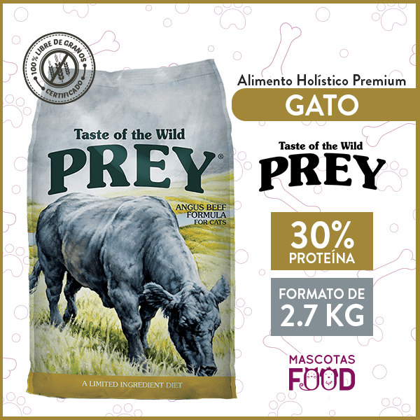 Alimento Gato Libre de Granos Taste of the Wild PREY Carne 2.7 KG 1