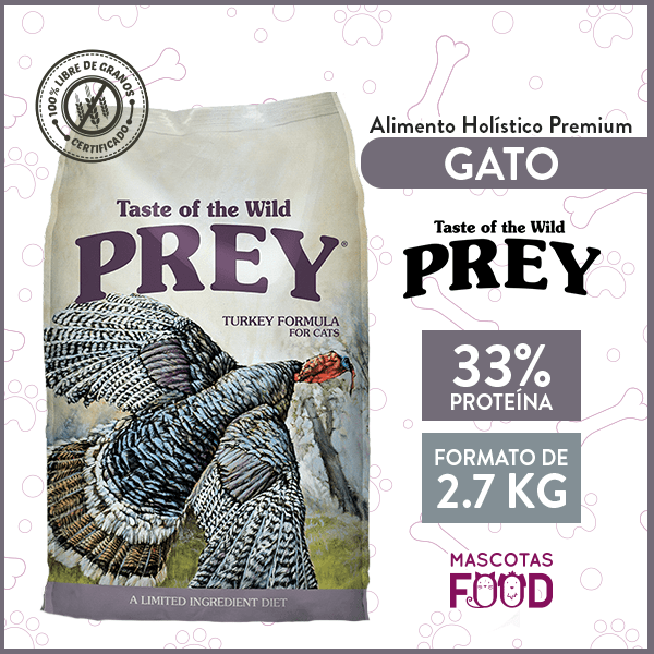 Alimento Gato Libre de Granos Taste of the Wild PREY Pavo 2.7 KG 1