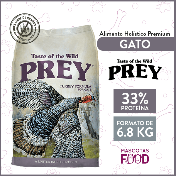 Alimento Gato Libre de Granos Taste of the Wild PREY Pavo 6.8 KG 1