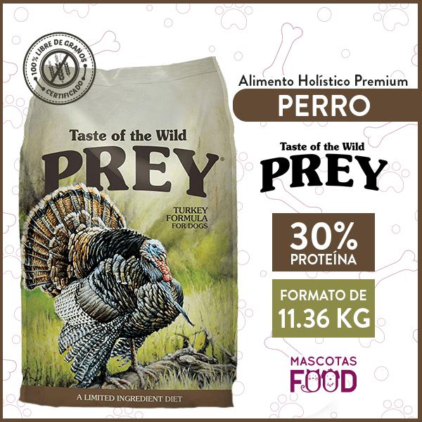 Alimento Perro Libre de Granos Taste of the Wild PREY Pavo 11.36 KG 1
