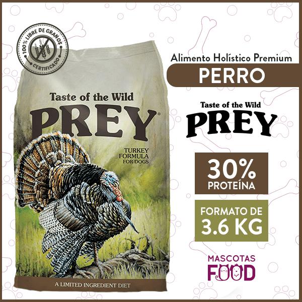 Alimento Perro Libre de Granos Taste of the Wild PREY Pavo 3.6 KG 1