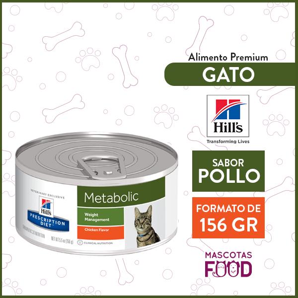 Alimento húmedo Gato Metabolic Hill's sabor Pollo 156grs. 1