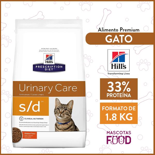 Alimento Gato S/D Cuidado Urinario HILLS sabor Pollo 1.8 KG 1