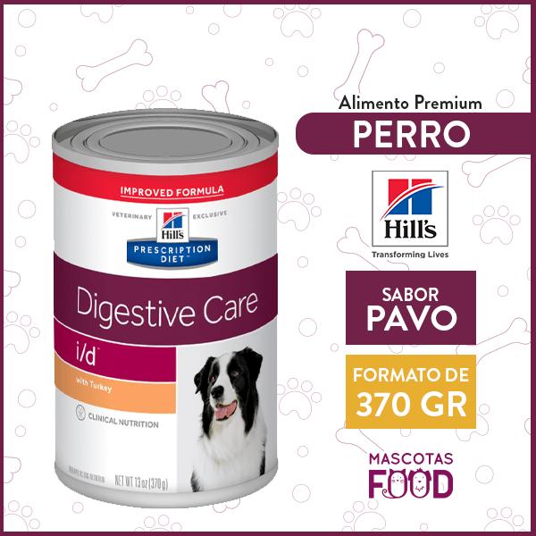 Alimento húmedo para Perro Adulto cuidado de digestión I/D Hill's sabor Pavo 370grs. 1