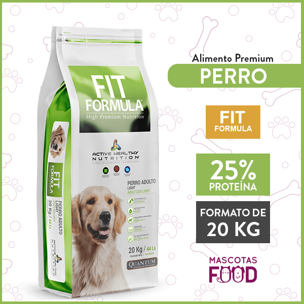 Alimento Perro Adulto Light Fit Formula Raza Mediana y Grande 20 KG 1