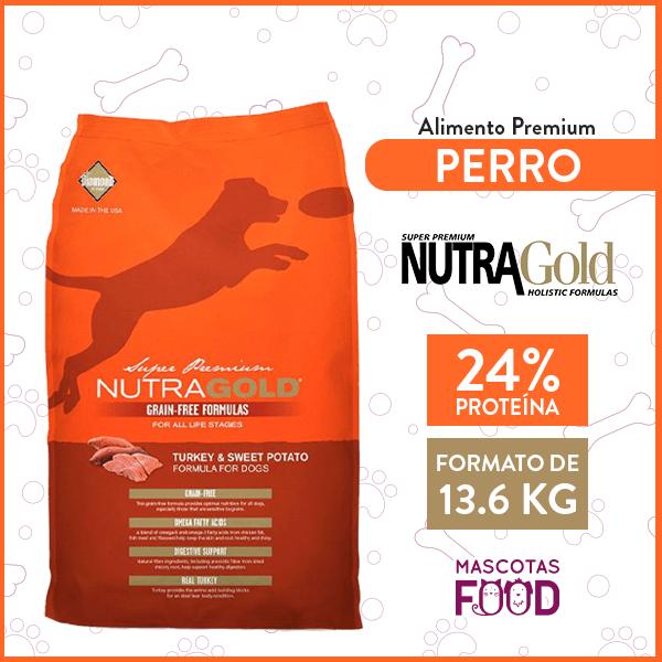 Alimento Perro Adulto Nutra Gold Libre de Granos Sabor Pavo 13.6 KG 1