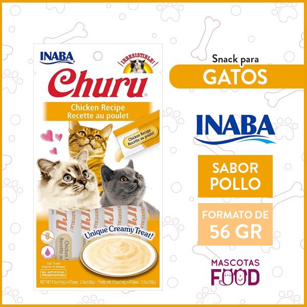 Snack para Gatos INABA CHURU Sabor Pollo 56GRS. 1