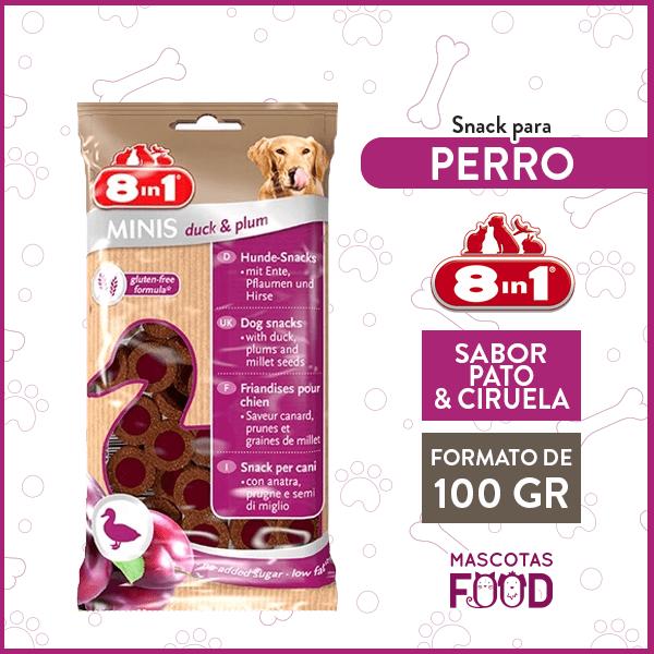 Snack para Perro 8 en 1 Sabor Pato y Ciruela 100GRS. 1