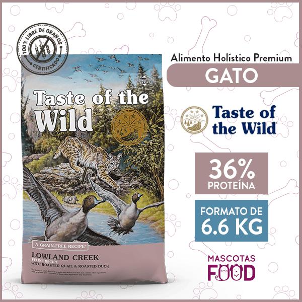 Alimento Gato Libre de Granos Taste of the Wild Lowland Creek Codorniz y Pato 6.6 KG 1