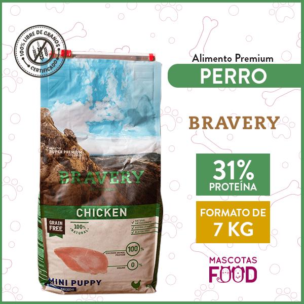 Alimento Cachorro Raza Pequeña Bravery Sabor Pollo 7 KG 1