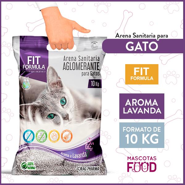 Arena Sanitaria para Gato Aglomerante FIT Formula Lavanda 10KG 1