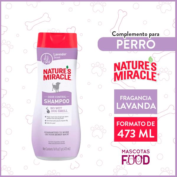 Shampoo para Perro Control de Olores Nature's Miracle Fragancia Lavanda 473ml 1