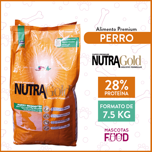 Alimento Perro Cachorros Microbites Nutra Gold Puppy 7.5 KG 1