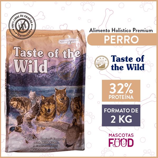 Alimento Perro Adulto Taste of the Wild Wetlands Canine Sabor Pato 2 KG 1