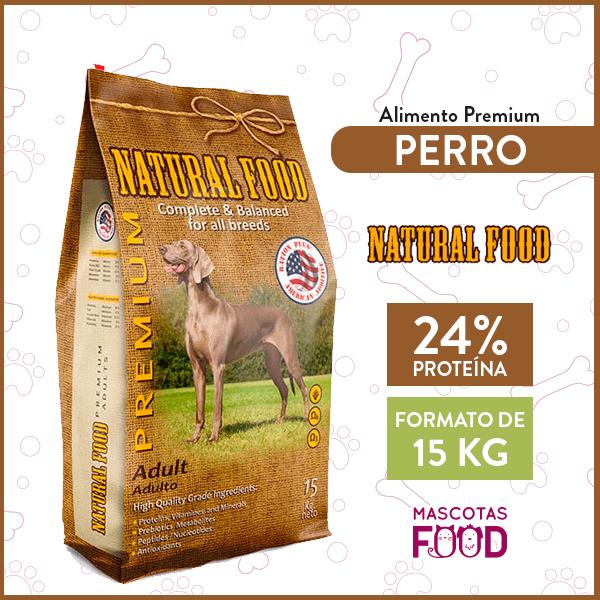 Alimento Perro Adulto Natural Food Todas las razas 15 KG 1