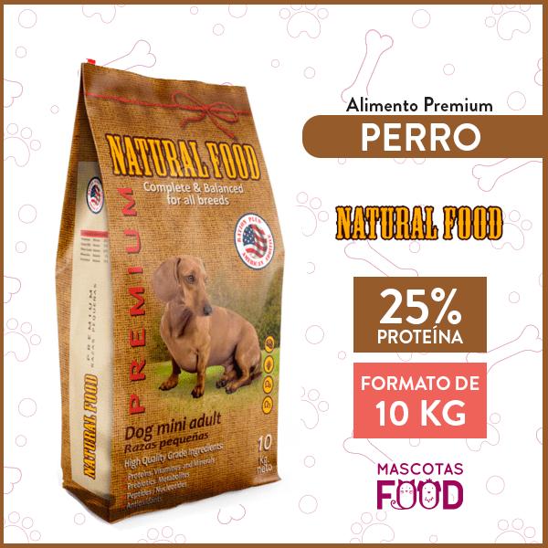 Alimento Perro Adulto Raza Pequeña Natural Food 10 KG 1