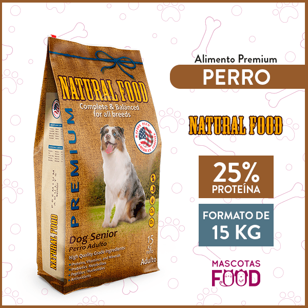 Alimento Perro Senior Natural Food 15 KG 1