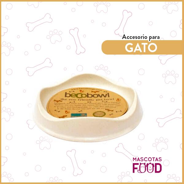 Plato Natural Biodegradable BECOBOWL especial para Gatos 1