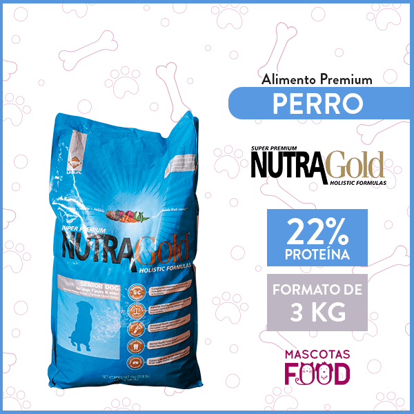 Alimento Perro Adulto Senior Nutra Gold 3 KG 1