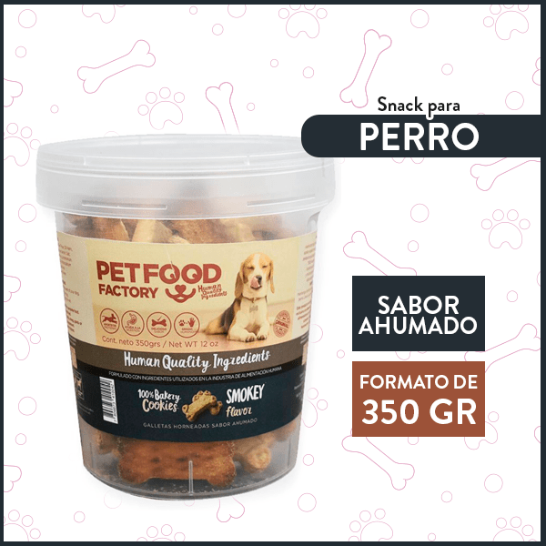 Galleta Hueso Sabor Ahumado PETFOOD FACTORY 350 Gr. 1
