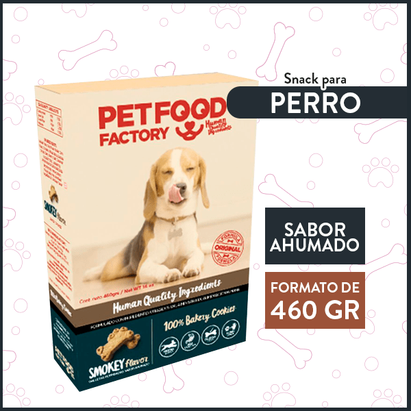 Galleta Hueso Sabor Ahumado PETFOOD FACTORY 460 Gr. 1