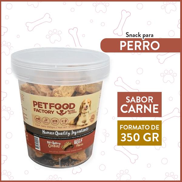 Galleta Hueso Sabor Carne PETFOOD FACTORY 350 Gr. 1