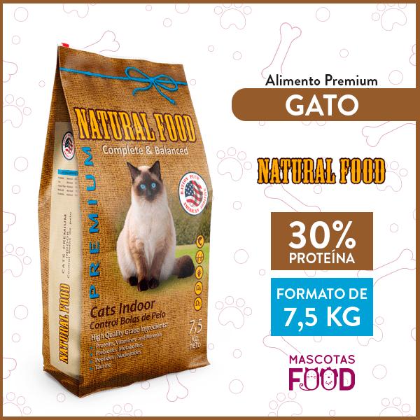 Alimento Gato indoor Natural Food 7.5 KG 1