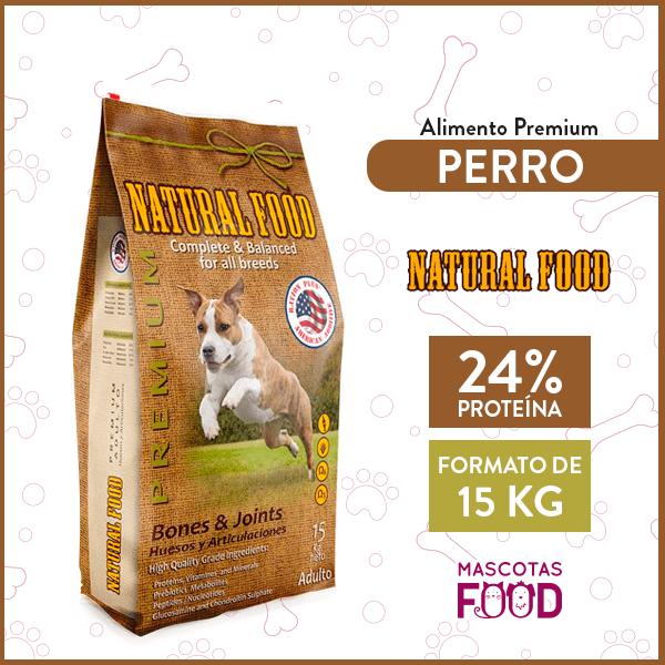 Alimento Perro Adulto Huesos y Articulaciones Natural Food Todas las razas 15 KG 1