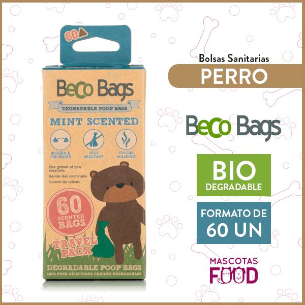 Bolsas Biodegradables Olor menta Beco Bags 60 unidades en rollos 1